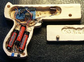 infrarot pistolen mit msp430 microcontroller